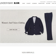 UNDER BAR RAW. ECサイト